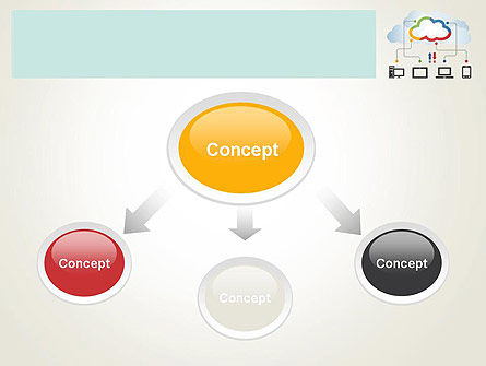 Cloud File Exchange PowerPoint Template Slide 4