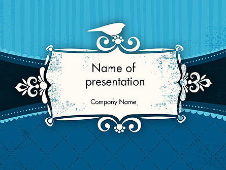 Classic Pattern with Banner PowerPoint Template