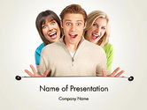 People: Young Happy People PowerPoint Template #12031