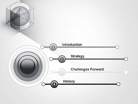 Geometrical PowerPoint Template, Slide 3, 12033, Education & Training — PoweredTemplate.com