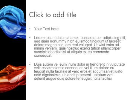 Blue and Red Abstract Streams PowerPoint Template, Slide 3, 12035, Abstract/Textures — PoweredTemplate.com