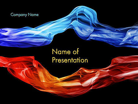 Blue and Red Abstract Streams PowerPoint Template