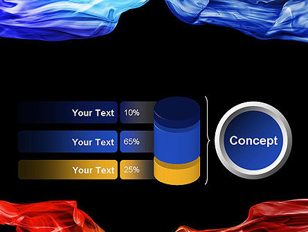 Blue and Red Abstract Streams PowerPoint Template Slide 11