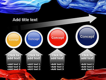 Blue and Red Abstract Streams PowerPoint Template Slide 13