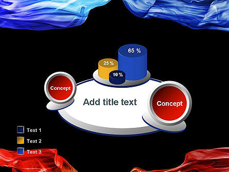 Blue and Red Abstract Streams PowerPoint Template Slide 16