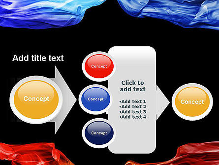 Blue and Red Abstract Streams PowerPoint Template Slide 17