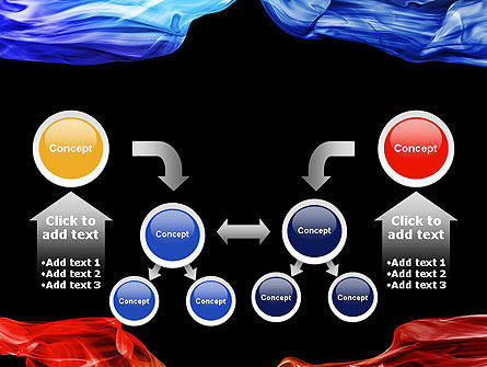 Blue and Red Abstract Streams PowerPoint Template Slide 19