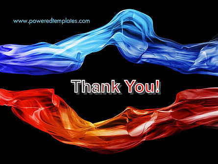 Blue and Red Abstract Streams PowerPoint Template Slide 20