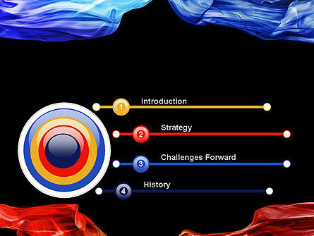 Blue and Red Abstract Streams PowerPoint Template Slide 3