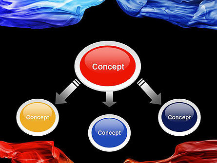 Blue and Red Abstract Streams PowerPoint Template Slide 4