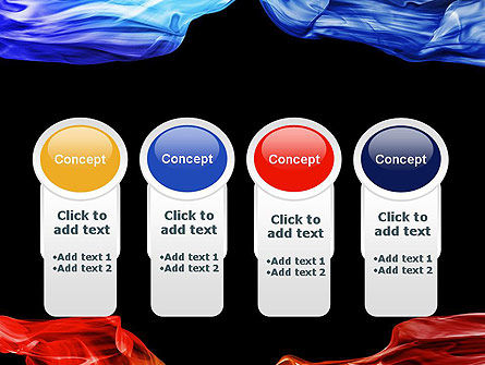Blue and Red Abstract Streams PowerPoint Template Slide 5