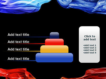 Blue and Red Abstract Streams PowerPoint Template Slide 8