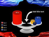 Blue and Red Abstract Streams PowerPoint Template#10