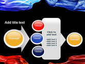 Blue and Red Abstract Streams PowerPoint Template#17