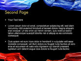 Blue and Red Abstract Streams PowerPoint Template#2
