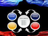 Blue and Red Abstract Streams PowerPoint Template#6