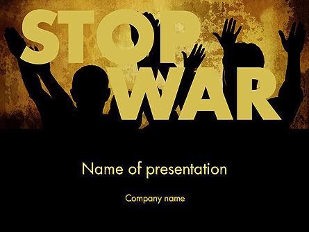 General: Stop War PowerPoint Template #12042