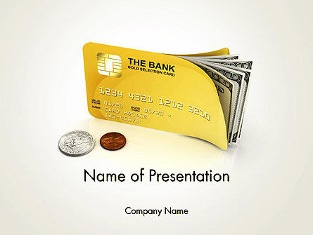 Financial/Accounting: Pay Card PowerPoint Template #12043