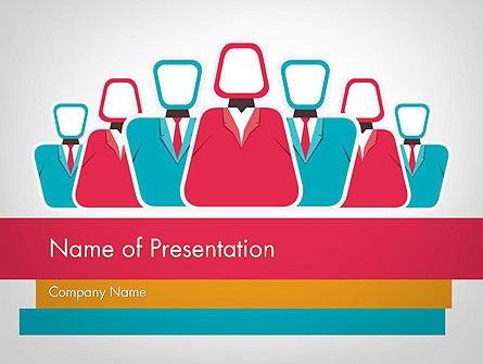 Business: Modèle PowerPoint de co workers illustration #12044