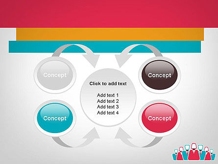 Co Workers Illustration PowerPoint Template Slide 6