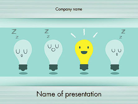 Business Concepts: Innovation and Creativity PowerPoint Template #12046