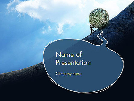 Financial Sisyphus PowerPoint Template