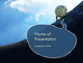 Financial/Accounting: Financial Sisyphus PowerPoint Template #12048