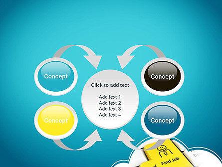 Find Job Button PowerPoint Template Slide 6