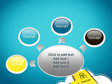 Find Job Button PowerPoint Template Slide 7