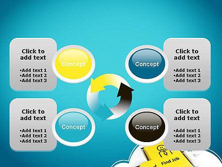 Find Job Button PowerPoint Template Slide 9