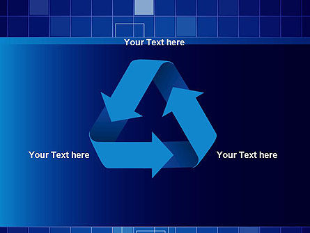 Glowing Blue Grid PowerPoint Template Slide 10