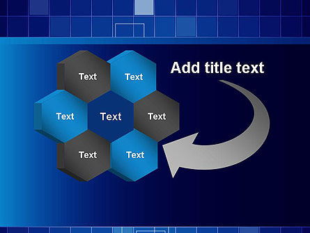 Glowing Blue Grid PowerPoint Template Slide 11