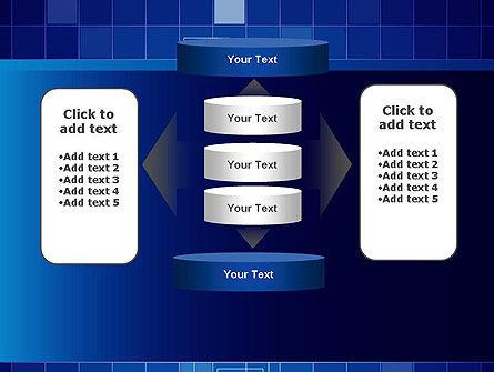 Glowing Blue Grid PowerPoint Template Slide 13