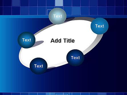 Glowing Blue Grid PowerPoint Template Slide 14