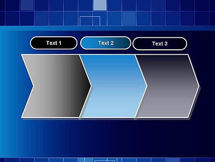Glowing Blue Grid PowerPoint Template Slide 16