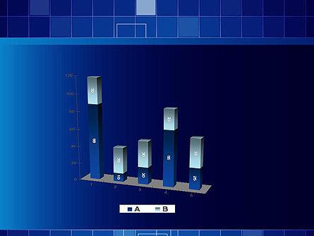 Glowing Blue Grid PowerPoint Template Slide 17