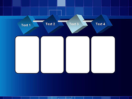 Glowing Blue Grid PowerPoint Template Slide 18
