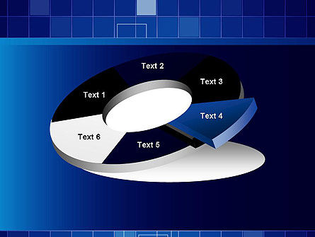 Glowing Blue Grid PowerPoint Template Slide 19