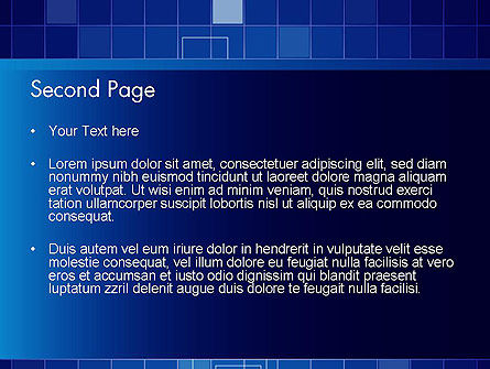Glowing Blue Grid PowerPoint Template, Slide 2, 12050, Abstract/Textures — PoweredTemplate.com