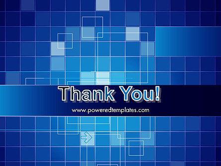 Glowing Blue Grid PowerPoint Template Slide 20