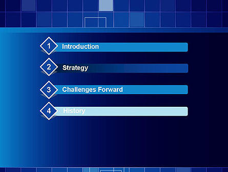 Glowing Blue Grid PowerPoint Template Slide 3