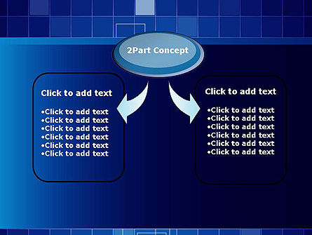 Glowing Blue Grid PowerPoint Template, Slide 4, 12050, Abstract/Textures — PoweredTemplate.com
