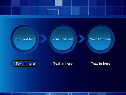 Glowing Blue Grid PowerPoint Template Slide 5