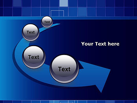 Glowing Blue Grid PowerPoint Template Slide 6