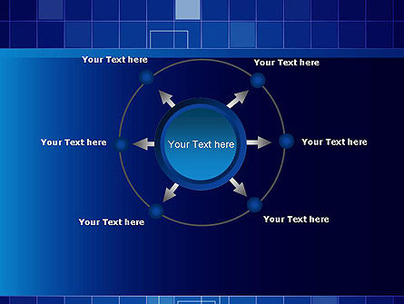 Glowing Blue Grid PowerPoint Template Slide 7
