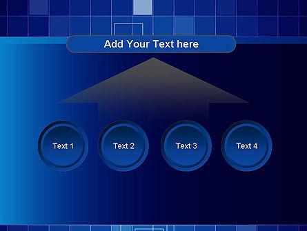 Glowing Blue Grid PowerPoint Template Slide 8