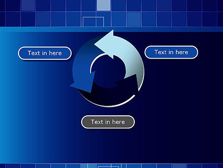 Glowing Blue Grid PowerPoint Template Slide 9