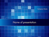 Abstract/Textures: Glowing Blue Grid PowerPoint Template #12050
