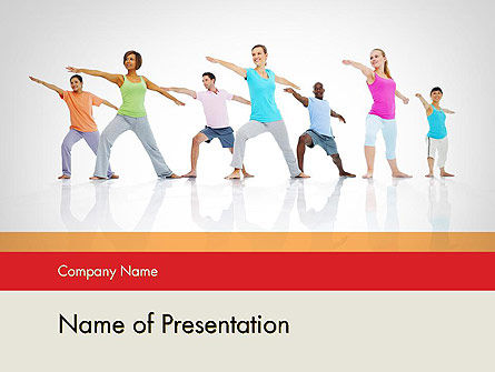 Morning Yoga PowerPoint Template, 12051, People — PoweredTemplate.com