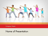 People: Morning Yoga PowerPoint Template #12051